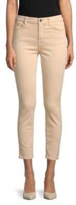 Brushed Sateen Ankle Skinny Jeans