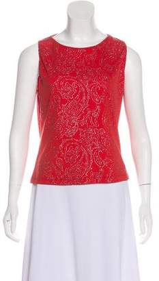 Versace Glitter Accent Sleeveless Top