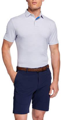 Peter Millar Men's Tour Fit Striped Stretch Jersey Polo Shirt