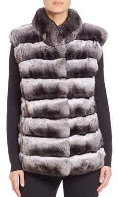 The Fur Salon Chinchilla& Mink Fur Vest