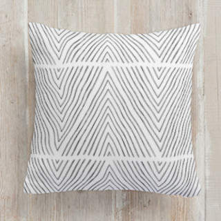 Uneasy Stripes Square Pillow