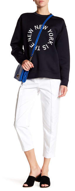 DKNY Pleat Front Cropped Pant