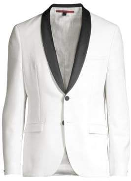 HUGO Men's Extra Slim J-Shawl Collar Dinner Jacket - Natural - Size 42 R