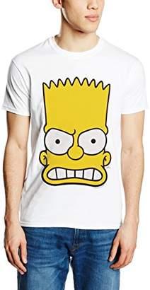 The Simpsons Men's Bart Face Short Sleeve T-Shirt