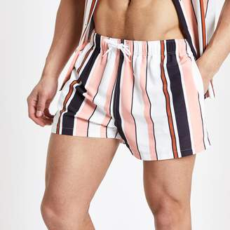 Mens Orange stripe swim shorts