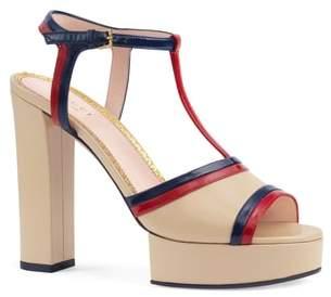 Gucci Millie T-Strap Platform Sandal