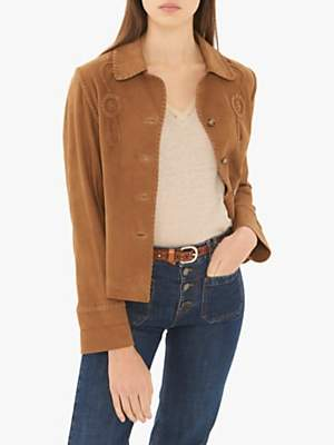 Gerard Darel Oxanna Leather Garment, Brown