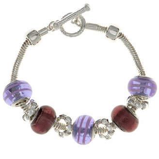 Gloria Vanderbilt Silver-Tone Multicolor Bracelet