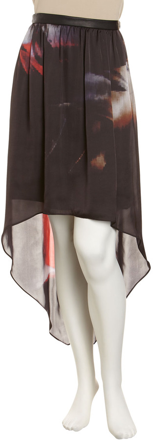 Yigal Azrouel Cut25 by High-Low Print Skirt