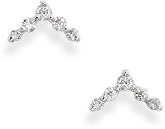 Bony Levy Chevron Diamond Stud Earrings