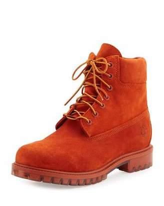 "Timberland Autumn Leaf 6"" Premium Waterproof Hiking Boot, Orange $200 thestylecure.com"