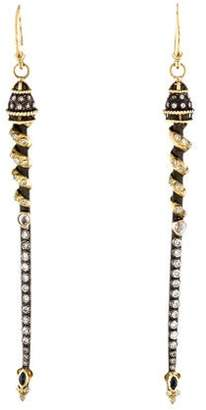 Armenta Diamond & Sapphire Drop Earrings