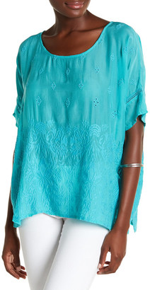 Johnny Was Embroidered Eyelet Shirt $210 thestylecure.com