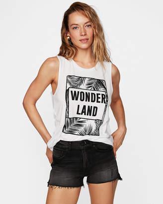 Express Wonder Land Crew Neck Muscle Tank