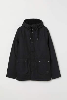 H&M Cotton Parka - Black