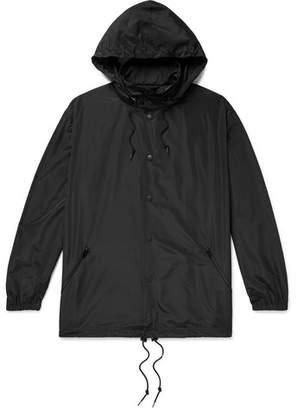 Balenciaga Oversized Logo-Embroidered Shell Hooded Jacket