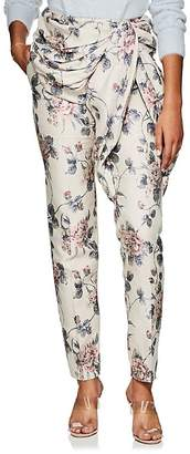 Y/Project Women's Ruched Floral Cotton-Blend Jacquard Trousers