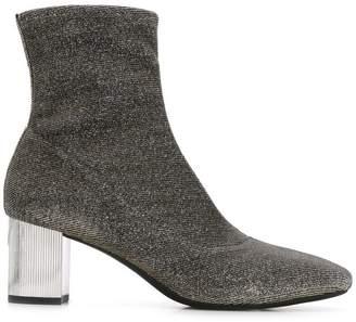 MICHAEL Michael Kors metallic sock ankle boots