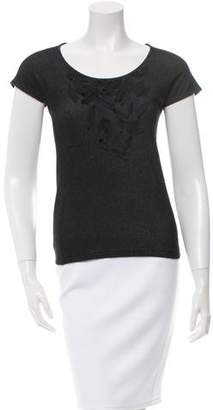 Akris Punto Fitted Embellished Top