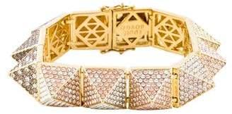 Eddie Borgo Large Pavé Crystal Pyramid Link Bracelet