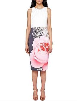 Ted Baker Rubelle Pearl Collar Detail Dress