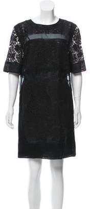 Rebecca Taylor Short Sleeve Mini Dress
