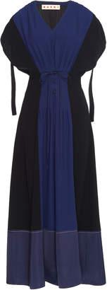 Marni Cap Sleeve Cady Midi Dress