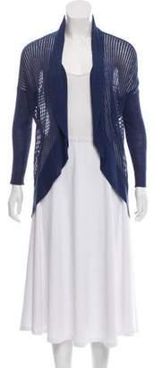 Alice + Olivia Open Knit Linen-Blend Cardigan