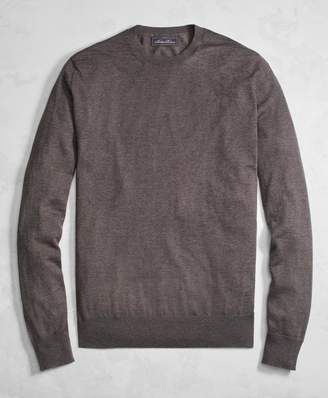 Brooks Brothers Golden Fleece 3-D Knit Fine-Gauge Merino Wool Crewneck Sweater