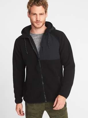 Old Navy Go-Warm Sherpa Nylon-Trim Hooded Jacket for Men