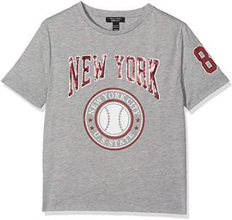 New Look 915 Girl's 5468862 T-Shirt, (Mid Grey)
