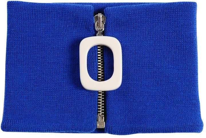 Halsband Aus Merinowollstrick Mit Zip