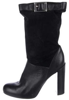 Rachel Zoe Leather Mid-Calf Boots