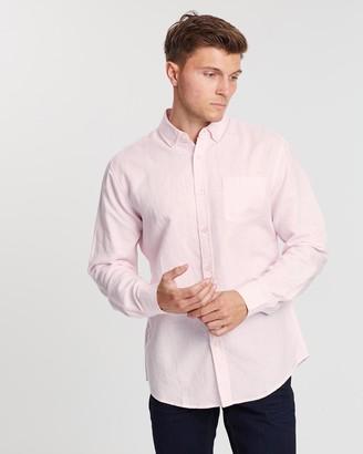 TAROCASH Elliott Linen Blend Shirt