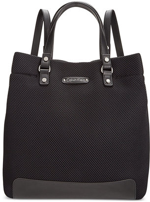 Calvin Klein Convertible Mesh Tote-Backpack $168 thestylecure.com