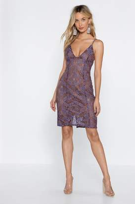 Nasty Gal Visions of Lace Plunging Dress