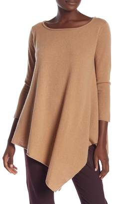 Magaschoni M BY Asymmetrical Cashmere Tunic Sweater