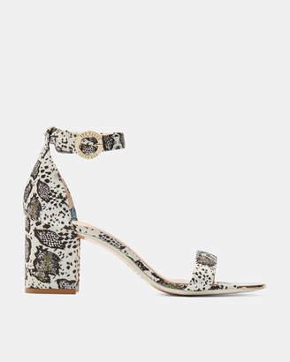 Ted Baker MANYAH Printed block heeled sandals