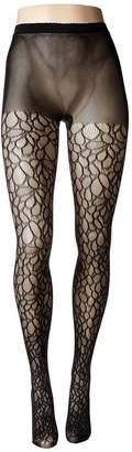Natori Deco Lace Net Tights Hose