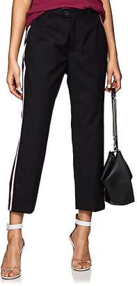 ADAPTATION Women's Track-Striped Wool Tailored Pants