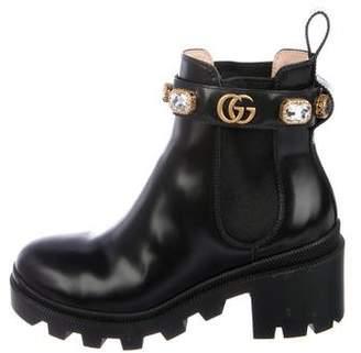 609a89f6b1d3 Gucci Marmont Boots - ShopStyle
