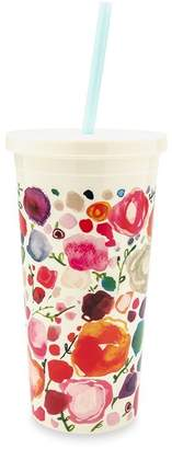 Kate Spade Tumbler with Straw - Floral, 16 OZ