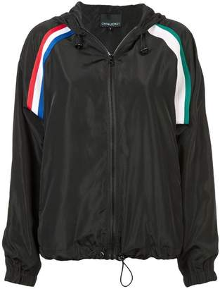Cynthia Rowley strip hooded jacket