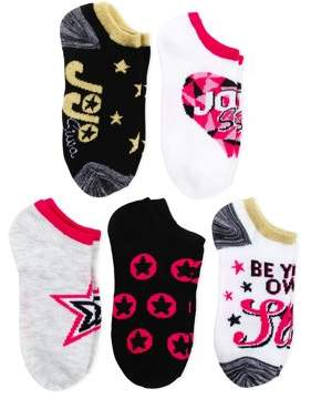 Jo-Jo Jojo Siwa No Show Socks, 5 Pairs (Little Girls & Big Girls)