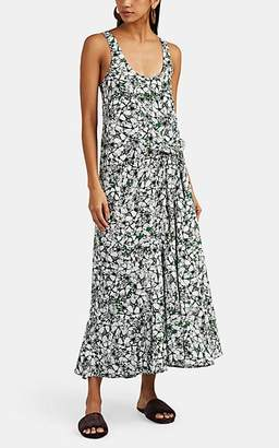 Cédric Charlier Women's Floral Matte Satin Midi-Dress - White Pat.