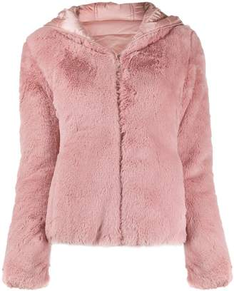 Save The Duck faux fur hooded jacket