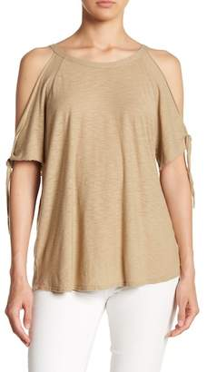 Comune Michelle by Tie Sleeve Cold Shoudler Blouse