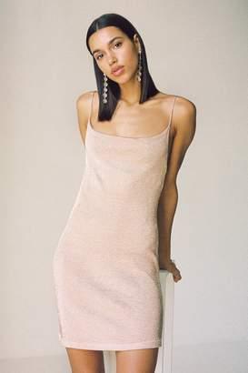 Bardot Dani Sparkly Metallic Cowl Neck Slip Dress