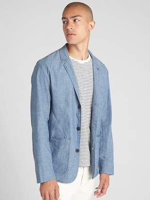 Gap Wearlight Blazer in Chambray with GapFlex