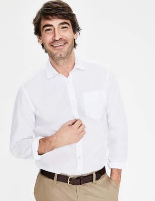 Boden Poplin Cutaway Collar Shirt